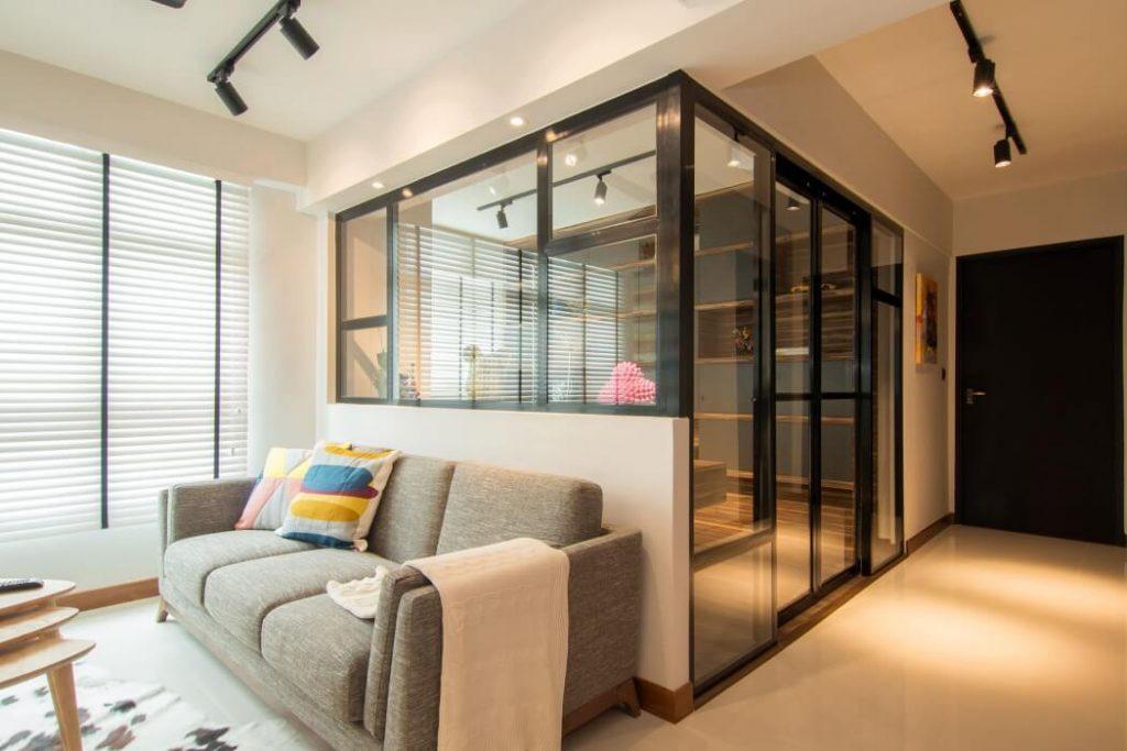 Дизайн интерьера со стеклянными перегородками фото