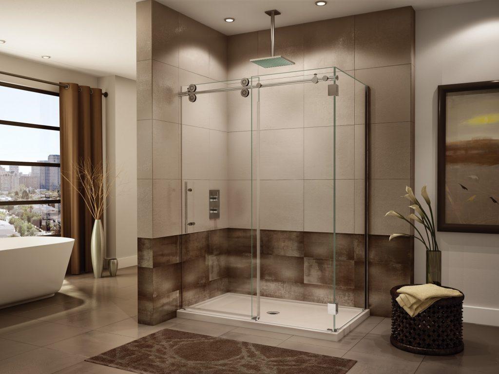 Из чего сделать перегородку в ванной? фото