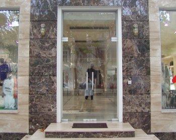 Входные стеклянные двери фото
